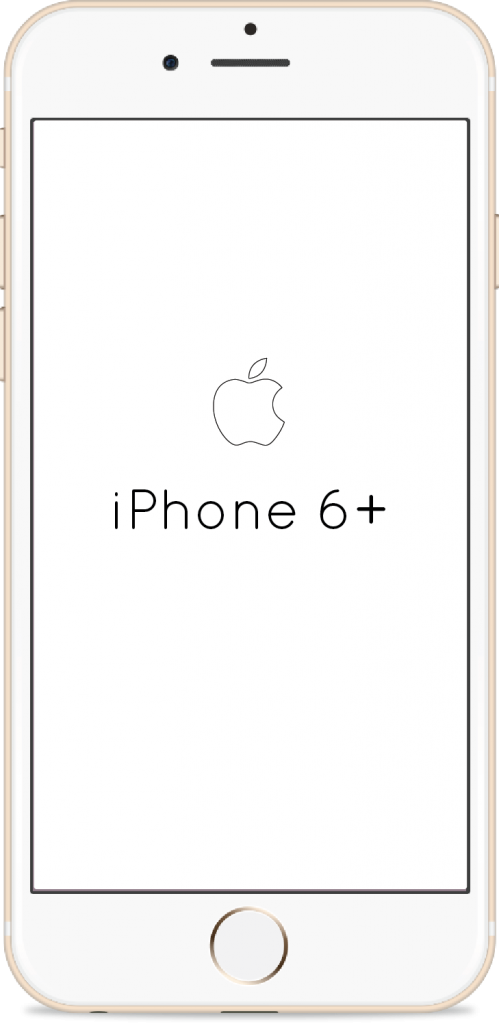 iPhone 6+ with Unlocked Repaired Screen