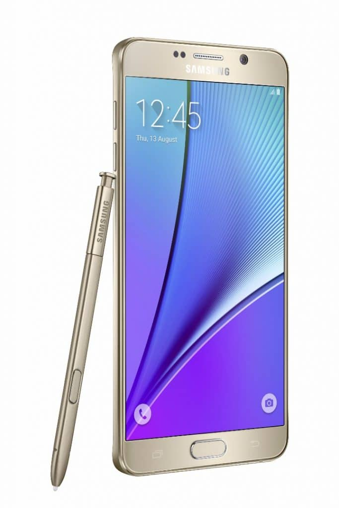 Samsung Note 5 with unlocked repaired screen
